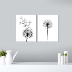 Set 2 tablouri decorative, Alpha Wall, Dandelion, 30x40 cm