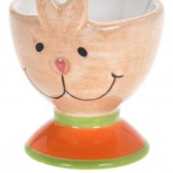 Suport pentru ou Brown Bunny, 6x7 cm, dolomita, multicolor