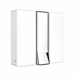 Agatatoare cuier pliabila Alpha, WENKO, 8 x 8 x 2.5 cm, metal cromat/plastic/magnet, alb/argintiu