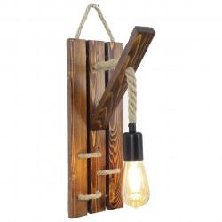 Aplica de perete All Design, handmade, 29x45x23 cm, Walnut