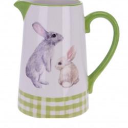 Carafa Bunny, 16.3x11.6x17.7 cm, dolomita, verde