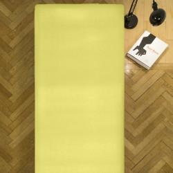Cearceaf de pat cu elastic Yellow Heinner, 90x200 cm, 100% bumbac, galben
