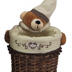Cos S Bear Bedora, salcie/material textil, multicolor