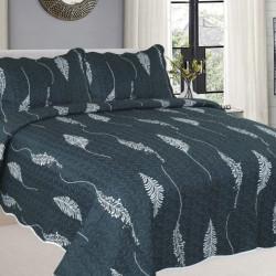 Cuvertura de pat + 2 Fete de Perne, Bumbac Tip Finet, Imprimata, Pat 2 persoane, CFI-73