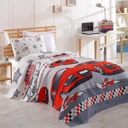 Cuvertura de pat, Eponj Home, Crazy Red, 160x235 cm, 100% bumbac, multicolor