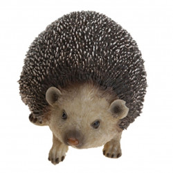 Decoratiune de gradina Hedgehog, 25x15x14,5 cm, polistone,maro