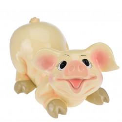 Decoratiune Pig laying down, 38x21x23 cm, polirasina
