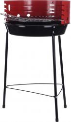 Gratar fix cu 3 picioara BBQ, Ø33 cm, metal, rosu