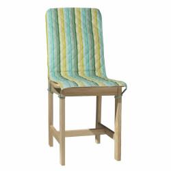Husa spatar scaun 47x100 cm, Green Stripes, 100% bumbac, verde
