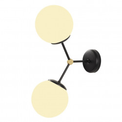 Lampa de perete Opviq Damar, 28x44 cm, 2 x E27, 100 W, alb/negru