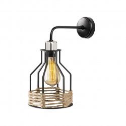 Lampa de perete Opviq Fiko, 27x33 cm, E27, 100 W, negru