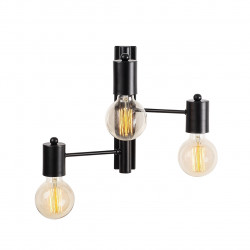 Lampa de perete Opviq Hexa, 30x40 cm, 3 x E27, 100 W, negru