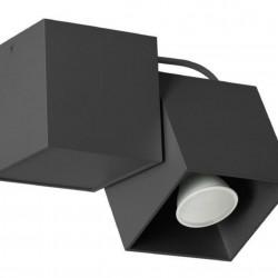 Lampa de tavan Lampex, Kraft 1 Black, GU10, 40W