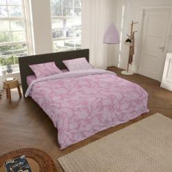 Lenjerie de pat pentru doua persoane, Descanso Cairo, 100% bumbac satinat, 3 piese, multicolor