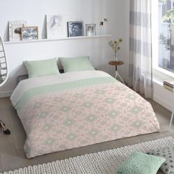 Lenjerie de pat pentru doua persoane, Good Morning Gabriela, 100% bumbac, 3 piese, multicolora
