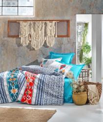 Lenjerie de pat pentru o persoana Marika - Navy Blue, Cotton Box, 3 piese, bumbac ranforce, albastru