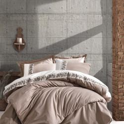 Lenjerie de pat pentru o persoana Rosinda - Beige, Cotton Box, 3 piese, bumbac ranforce, bej