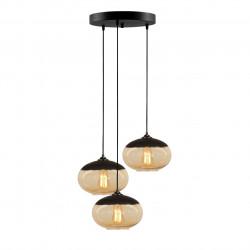 Lustra Camini MR - 868, Opviq, 50 x 113 cm, 3 x E27, 100W, negru/honey