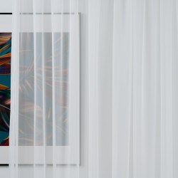 Perdea Imagine, Voal, 600x245 cm, poliester, bej