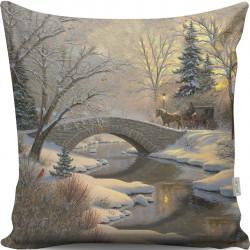 Perna decorativa, Gravel, A13010, 43x43 cm, policoton, multicolor