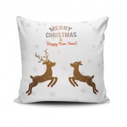 Perna decorativa NOELKRLNT-31, Christmas, 43x43 cm, policoton, multicolor