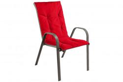 Perna scaun cu spatar Alcam, Midsummer, 105x48x3 cm, material impermeabil, Rosu