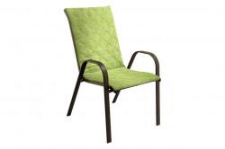 Perna scaun cu spatar Alcam, Midsummer, 105x48x3 cm, microfibra matlasta, Green Jeans