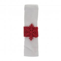Prosop de bucatarie cu inel Snowflake, Heinner, 38x64 cm, Bumbac, Alb