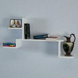 Raft pentru perete Rock, Moblert, 107.4x22x58.1 cm, alb