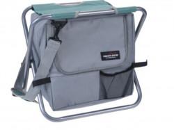 Scaun pliabil pentru camping, 41x35x52 cm, metal, verde menta