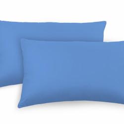 Set 2 fete de perna, 100% bumbac, 50x70 cm, albastru