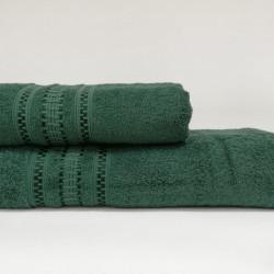 Set 2 prosoape de baie BridgeV2, Class, 100% bumbac,verde