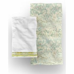 Set 2 prosoape de baie Light, Aglika, 50 x 100 cm/ 50 x 30 cm, 70% bumbac, 30% microfibra, multicolor