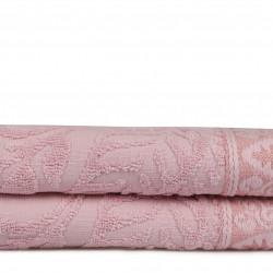 Set 2 prosoape de maini 50x90 cm, 100% bumbac, Soft Kiss, Noktalı Şal, roz