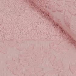 Set 2 prosoape de maini 50x90 cm, 100% bumbac, Soft Kiss, Pamela, roz