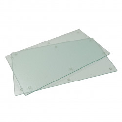 Set 2 protectii pentru plita Jocca, 52x30 cm, sticla