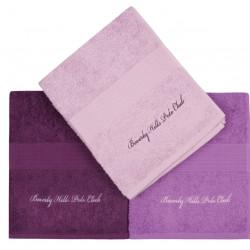 Set 3 prosoape de maini, Beverly Hills Polo Club, Lilac and Purple, 50 x 100 cm, 100% bumbac