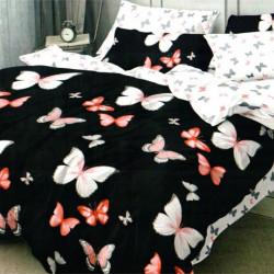 Set Lenjerie de Pat Finet Satinat, 6 Piese, Butterflies, FN-C261