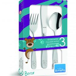 Set tacamuri pentru copii, 3 piese, Amefa, Teddy, inox