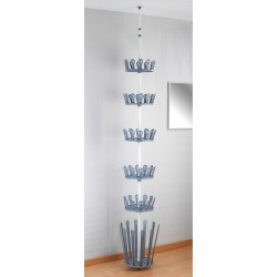 Suport pentru incaltaminte Wenko Achilles, 36 perechi, 100 cm, metal/polipropilena/ABS, gri