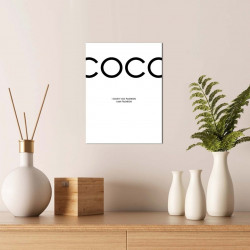 Tablou decorativ, Alpha Wall, Coco, 30x40 cm
