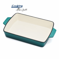 Tava Emailata Cooking by Heinner, 33 x 23.3 x 6.8 cm, fonta, bej si bleu