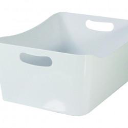 Cos de depozitare Jocca, 24x17x10.5 cm, plastic, alb