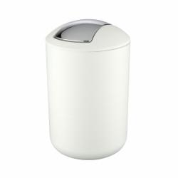 Cos de gunoi cu capac batant, Wenko Brasil, alb, 6.5 L