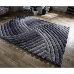 Covor Verge Furrow Grey, Flair Rugs, 120 x 170 cm, 100% poliester, gri