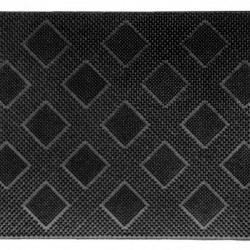 Covoras de intrare din cauciuc Romb, Vanora, 40x60 cm