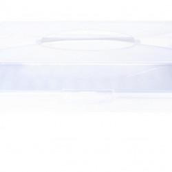 Cutie pentru depozitare prajituri, 48.5x34.5x10 cm, polipropilena, alb