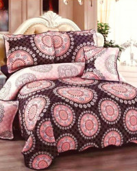 Cuvertura de pat si 4 Fete de Perna, Pat 2 Persoane, Bumbac 100%, Corina, E-S113
