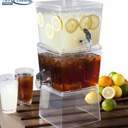Dispenser pentru bauturi DUO MIX, Heinner Home, 2 recipiente, 5.6L/recipient, plastic, transparent