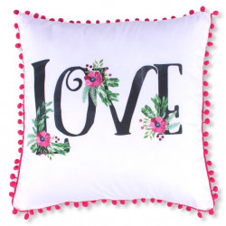Fata de perna decorativa Love, Fashion Goods, 45x45 cm, poliester, multicolor
